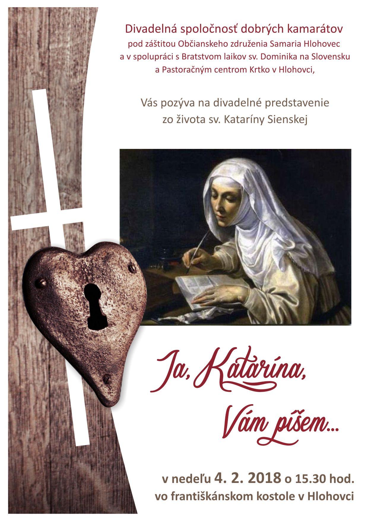 Ja, Katarína, Vám píšem…