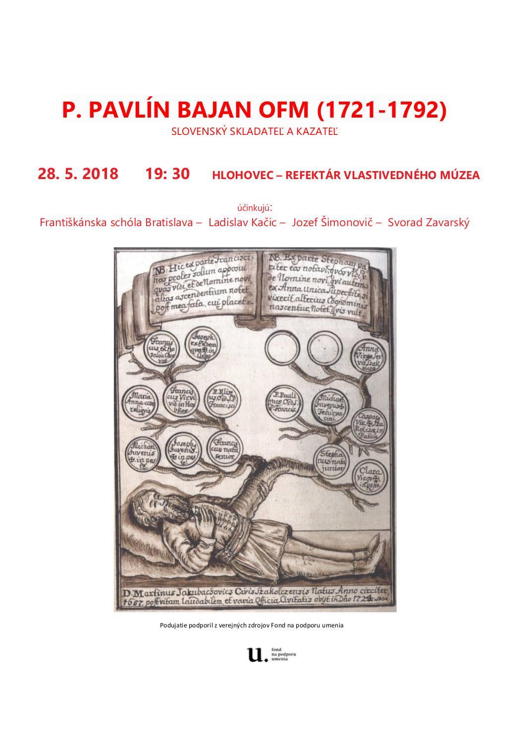 P. Pavlín Banaj OFM (1721-1792) – Slovenský skladateľ a kazateľ
